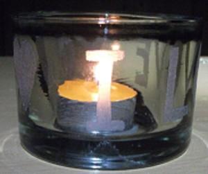 Kerzenglas Steht noch zum Verkauf