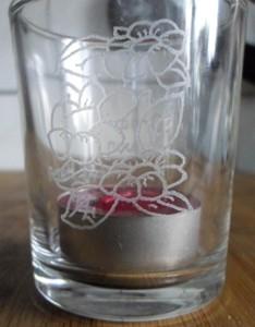 Kerzenglas letztes Geschenk für Oma Bayern