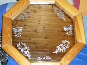 Spiegel 8 eckig Weihnachtsgeschenk für meinen Bruder und seiner Familie