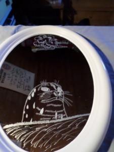 Spiegel Oval 36 X 26 cm Werbung (Bauer sucht Frau)